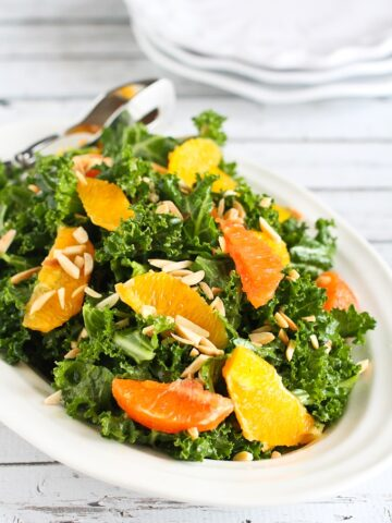 This Kale & Orange Salad with Toasted Almonds from Cookin' Canuk is packed with vitamins, nutrients and tons of flavor!