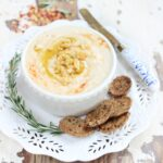 Roasted Garlic White Bean Dip {Gluten-Free, Vegan, Easy}