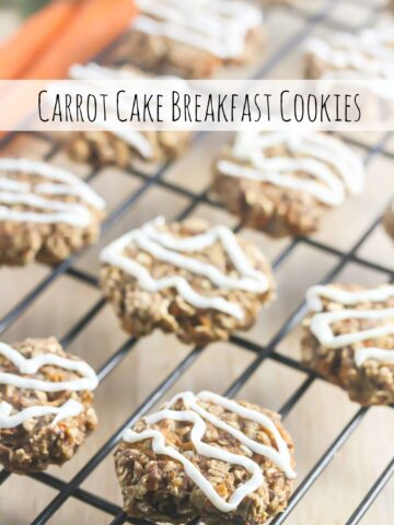These Carrot Cake Cookies are delicious and nutritious enough to eat for breakfast! www.laurenkellynutrition.com