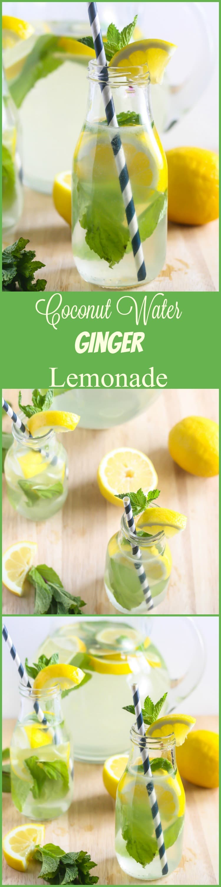 You can enjoy this refreshing Coconut Water Ginger Lemonade all year long! #vegan #healthy www.laurenkellynutrition.com
