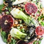 Grilled Baby Bok Choy Salad with Honey Miso Dressing {Vegan Option, Gluten-Free, Dairy-Free}
