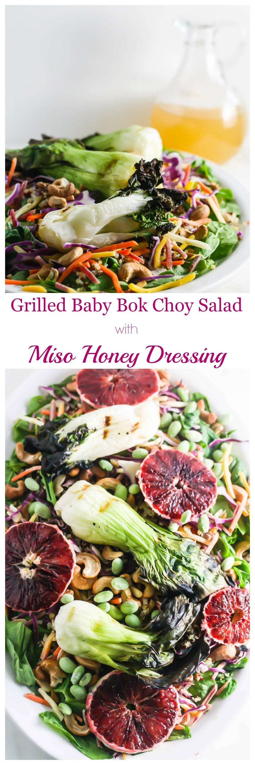 Grilled Baby Bok Choy Salad with Honey Miso Dressing from Lauren Kelly Nutrition