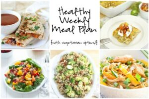Healthy Weekly Meal Plan 5.7.16
