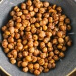 Sweet and Spicy Roasted Chickpeas {Vegan, Gluten-Free, Dairy-Free}