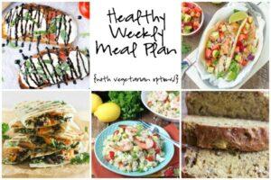 Healthy Weekly Meal Plan 6.18.16