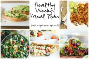 Healthy Weekly Meal Plan 6.25.16