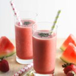 Strawberry Watermelon Smoothie {Vegan, Dairy-Free, Gluten-Free, 3 Ingredients}