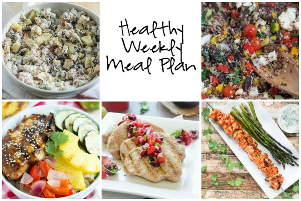 Healthy Weekly Meal Plan 7.23.16