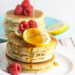 Lemon Chia Seed Pancakes {Vegan, Whole Grain}
