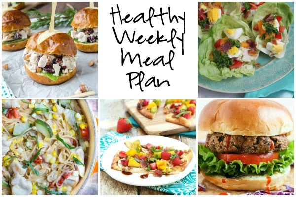 Healthy Weekly Meal Plan 8.13.16