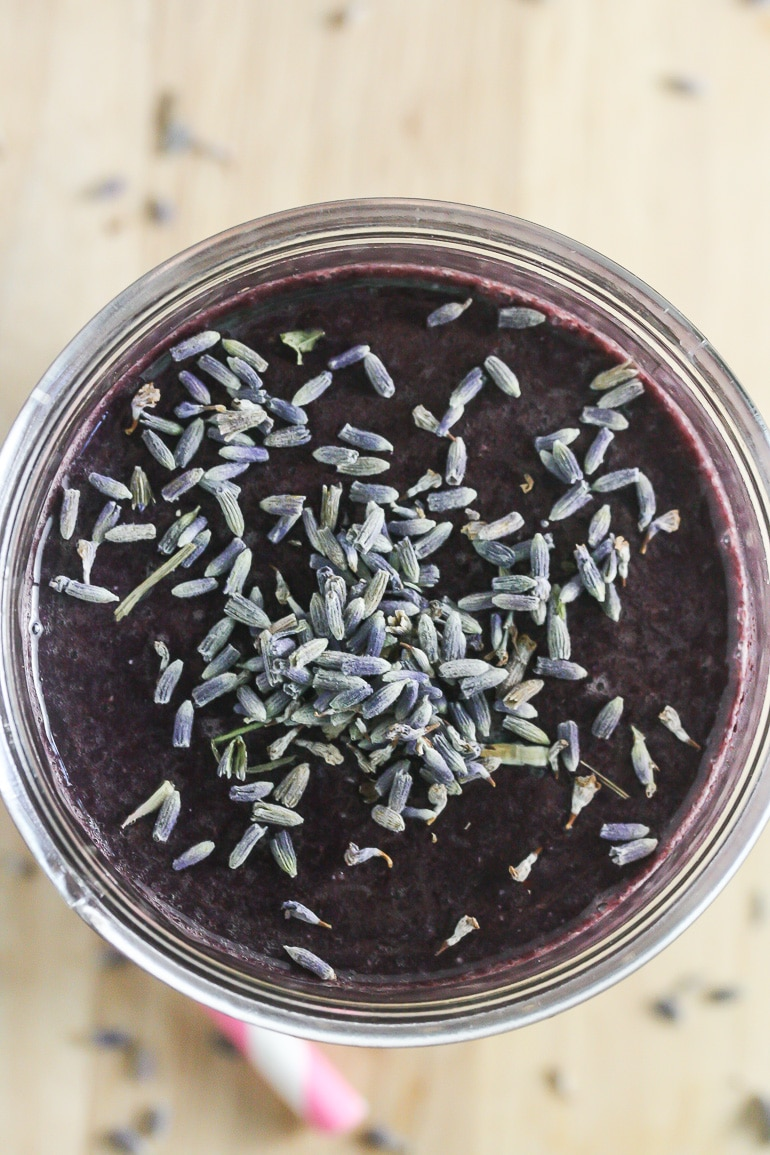 Blueberry Lavender Smoothie from Lauren Kelly Nutrition