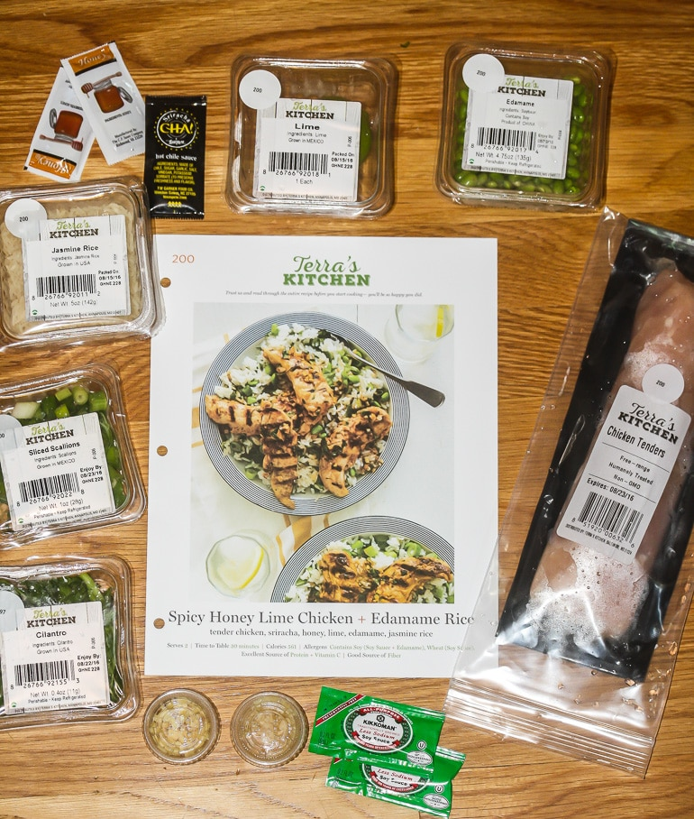 Spicy Honey Lime Chicken & Edamame Rice and a Review of Terra's Kitchen | Lauren Kelly Nutrition