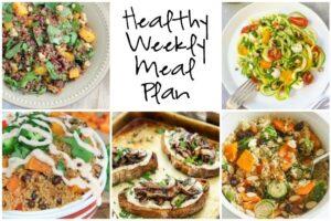 Healthy Weekly Meal Plan 9.17.16