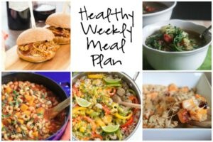 Healthy Weekly Meal Plan 9.24.16