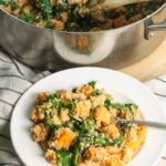 One Pot Sweet Potato Kale Quinoa Skillet {Gluten-Free, Vegan, Dairy-Free}