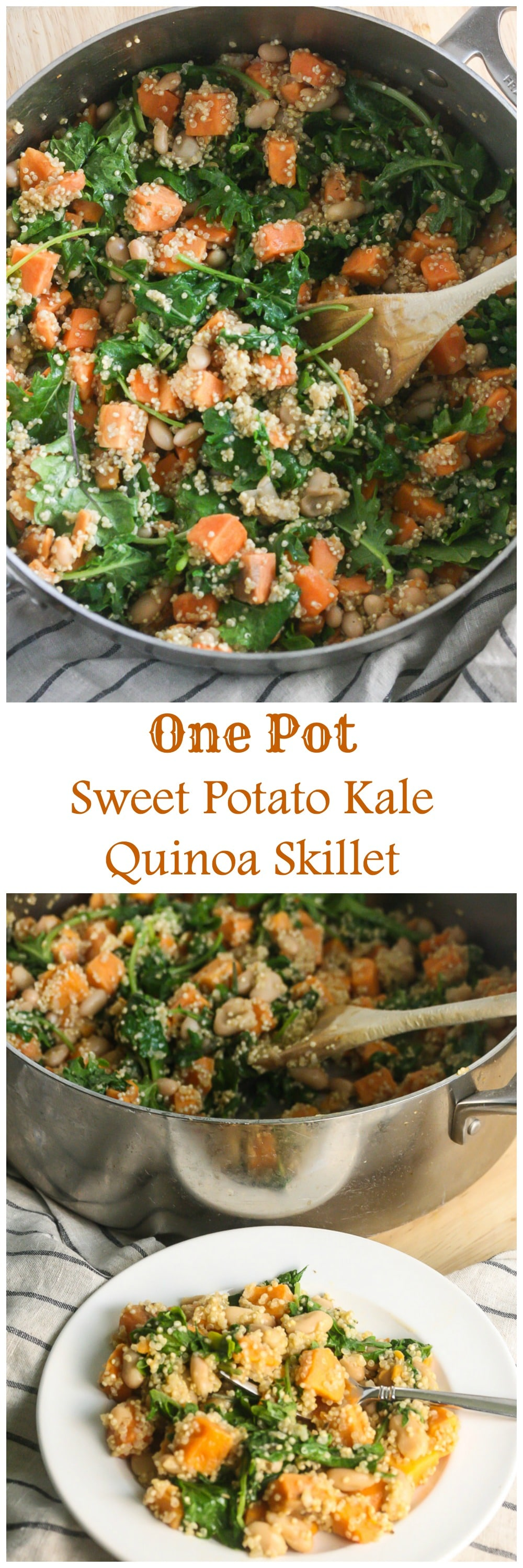 Sweet Potato Kale Quinoa Skillet