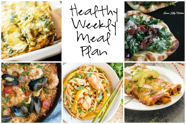 Healthy Weekly Meal Plan 12.3.16