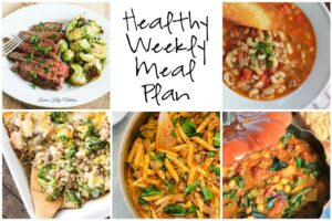 Healthy Weekly Meal Plan 12.10.16