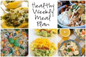 Healthy Weekly Meal Plan 1.14.16