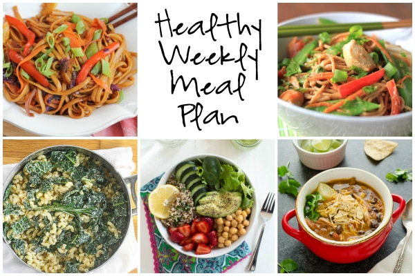 Healthy Weekly Meal Plan 1.20.16