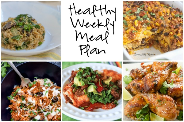 Healthy Weekly Meal Plan 1.28.16