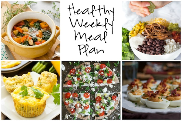 Healthy Weekly Meal Plan 1.7.16