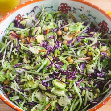 Simple Chopped Salad with Orange Vinaigrette from Lauren Kelly Nutrition
