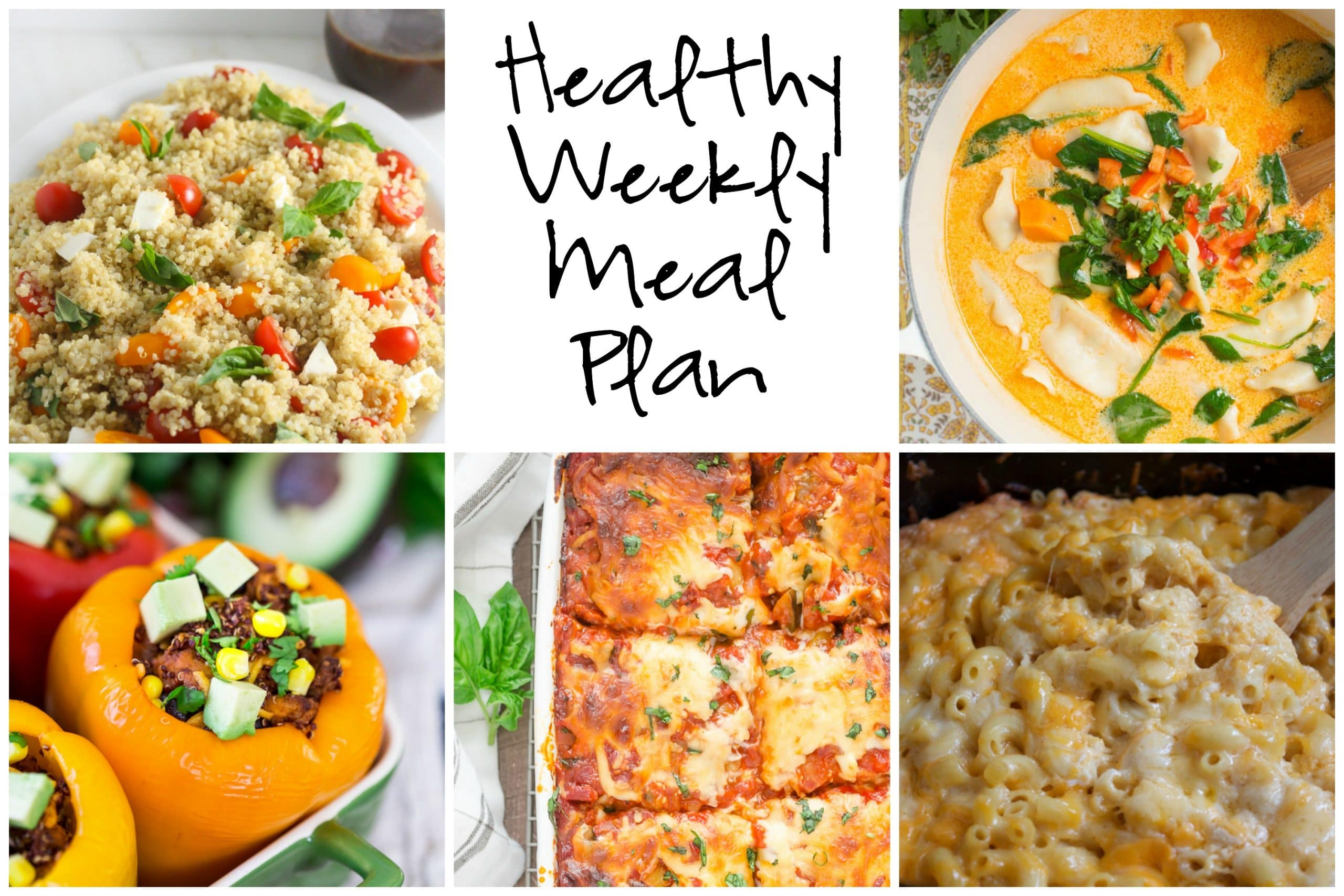 Healthy Weekly Meal Plan 2.11.16