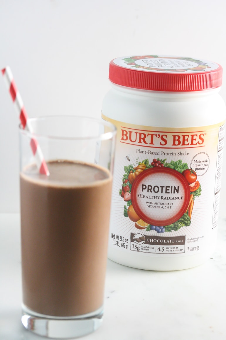 Chocolate Burt's Bees™ Protein Shakes from Lauren Kelly Nutrition