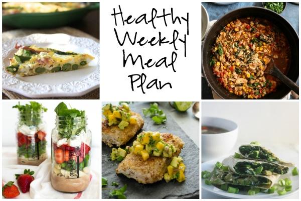 Healthy Weekly Meal Plan 4.8.17