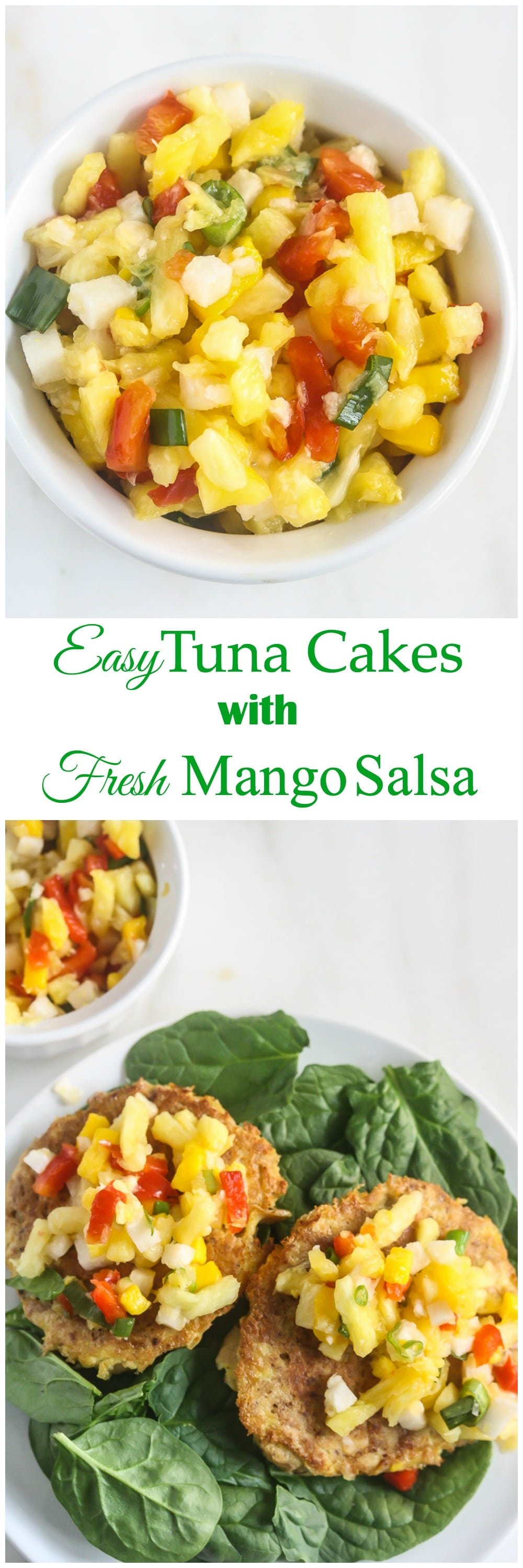Easy Tuna Cakes with Fresh Mango Salsa