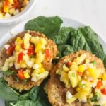 Easy Tuna Cakes with Fresh Mango Salsa {Gluten Free, Dairy Free, Low Carb}