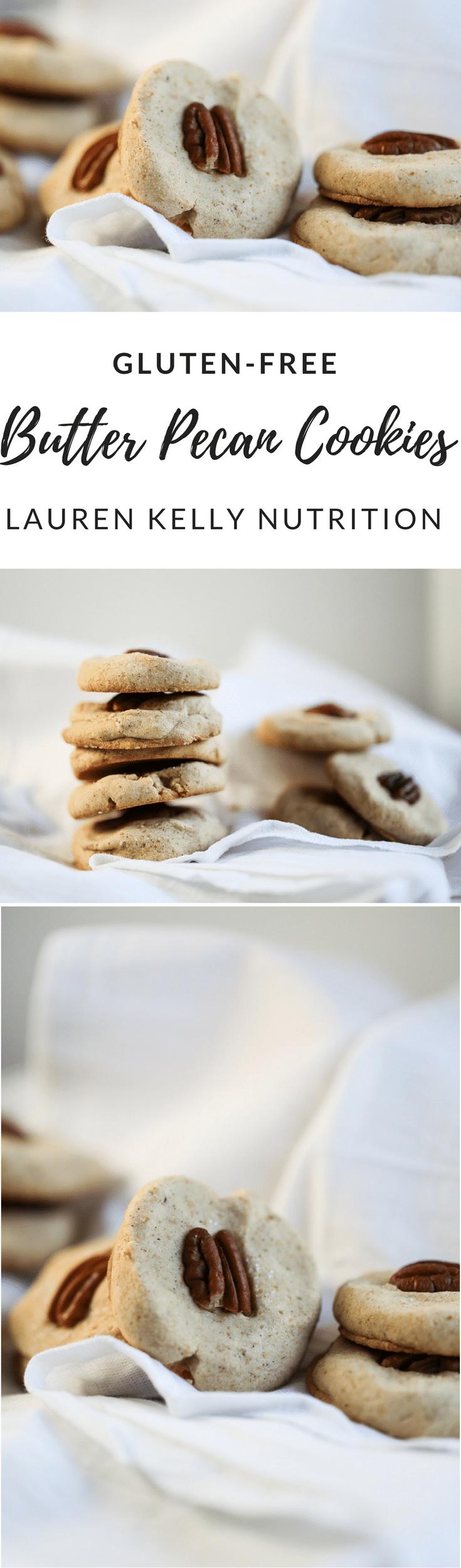 Gluten Free Butter Pecan Cookies