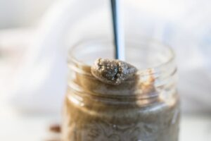 Homemade Cinnamon Vanilla Pecan Butter made with The NutraMilk! No added sugars or preservatives!