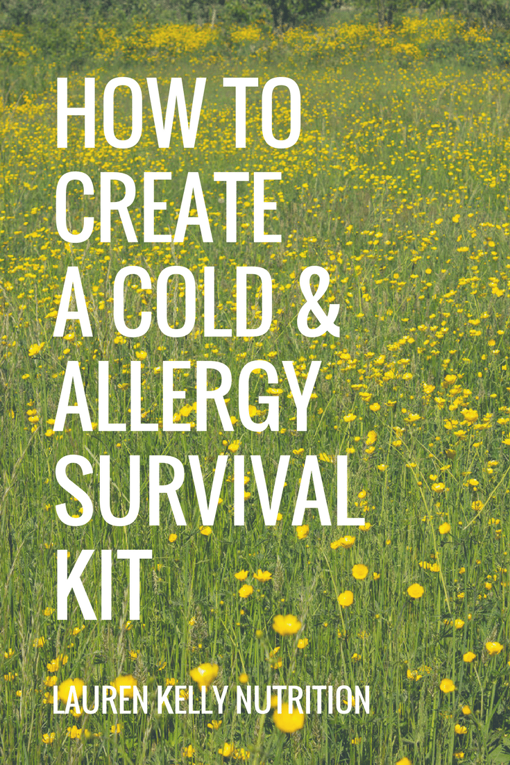 How to Create A Cold/Allergy Survival Kit from Lauren Kelly Nutrition