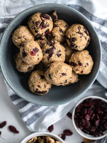 Simple to make with all wholesome ingredients, these Cranberry Almond Energy Balls are a must make!