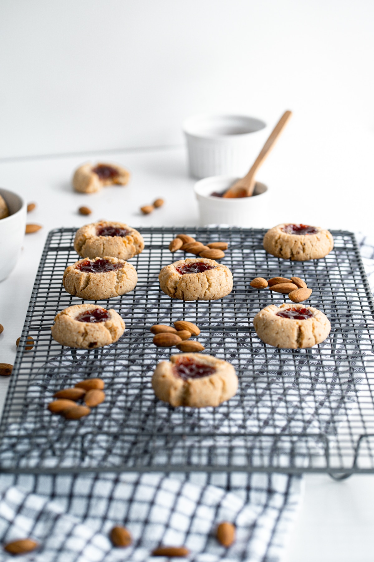 Made with just a five simple ingredients, these Almond Flour Thumbprint Cookies are delicious all year long! They are sugar free, low carb, gluten free and Keto!
