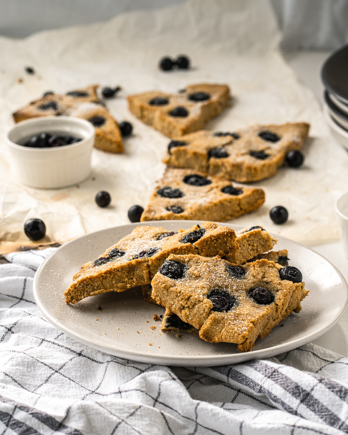 Made with just a few, simple ingredients these delicious Blueberry Scones are gluten free, sugar free, low carb and Keto friendly!