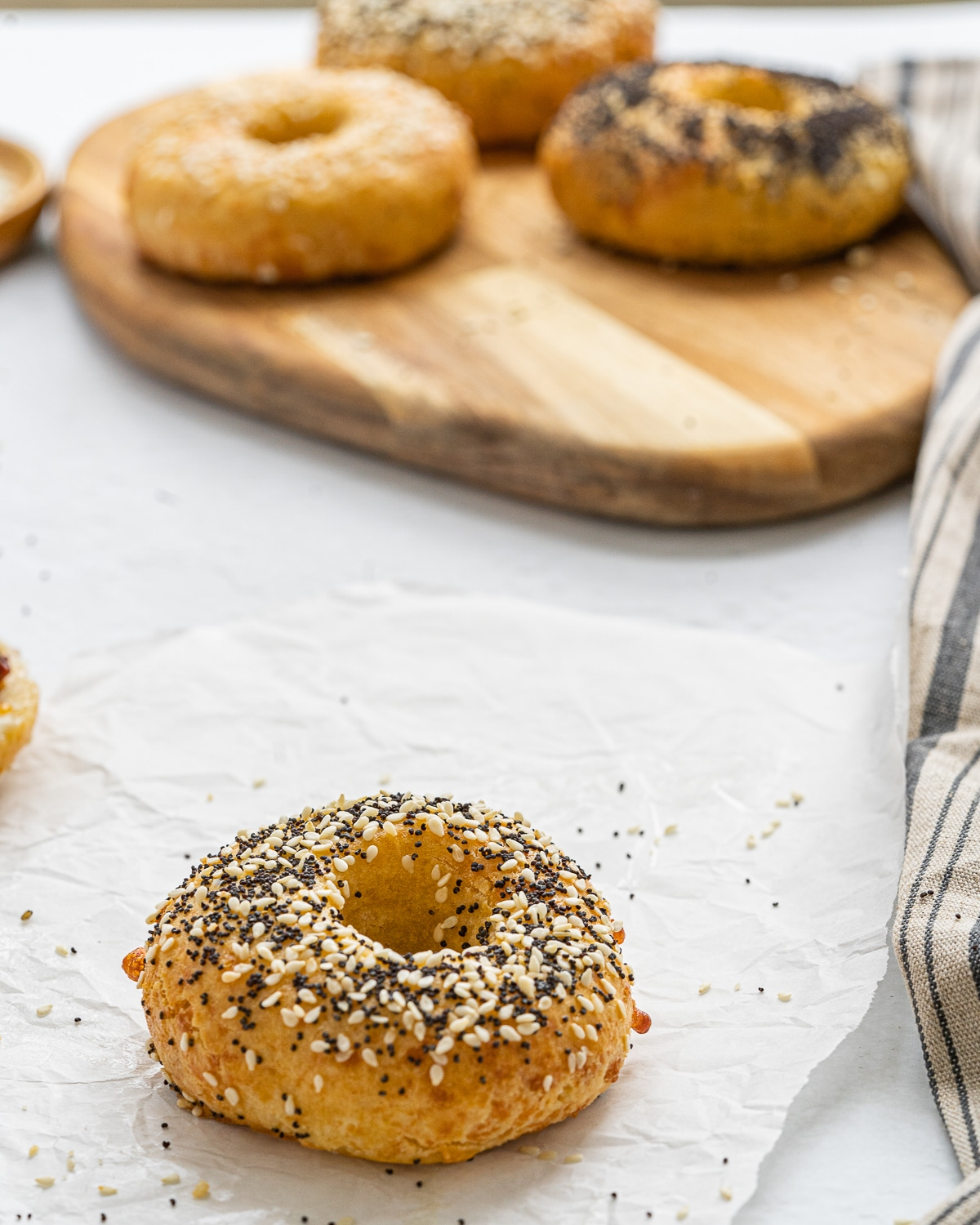 Don't be intimidated to make your own low carb bagels, these are easy to prepare and a have a fabulous texture!