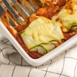 Super comforting but still light and tasty, this Zucchini Ravioli might look fancy but it's simple to make, low carb, gluten free and sugar free!