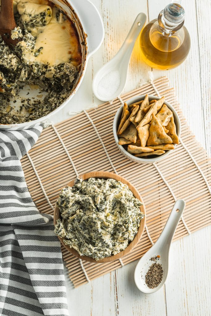 Light, delicious and simple to make, this Low Carb Spinach Artichoke Dip is always a huge crowd pleaser!