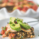 Low Carb Tortilla Taco Pie