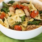 Pasta and Sausage in Garlic White Wine Sauce