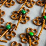 Happy St. Patrick's Day Treats {Shamrock Pretzels}