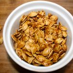 Healthy Maple Coconut Roasted Pumpkin Seeds from Lauren Kelly Nutrition