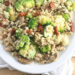 Vegetable Parmesan Quinoa made in the Slow Cooker! Lauren Kelly Nutrition