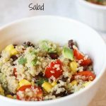 Quinoa Avocado Tomato and Black Bean Salad with Cilantro Lime Vinaigrette