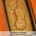 This Pumpkin Cornbread is healthy and delicious! www.laurenkellynutrition.com #vegan