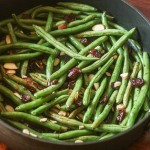 Balsamic Glazed Green Beans with Cranberries and Almonds