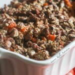 Maple Sweet Potato Casserole with Pecan Topping {Vegan, Gluten-Free}